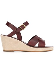 A.P.C. Wedge Sandals Pink And Purple