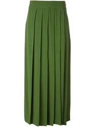 I'm Isola Marras Pleated Skirt Green