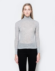 Alexander Wang Wooly Rib Turtleneck Cement