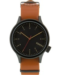 Komono Black Cognac Magnus Watch