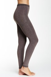 Shimera Fleece Lined Footless Tights Brown