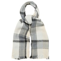 Oasis Check Scarf Black White