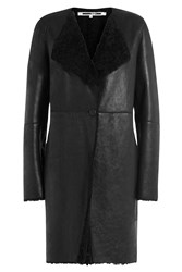 Mcq By Alexander Mcqueen Shearling Coat Black