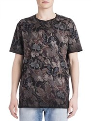 Valentino Japanese Butterfly Printed Tee Black Multi