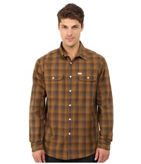 Matix Clothing Company Wesson Flannel Shirt Gold Men's Long Sleeve Button Up