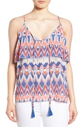 Dex Women's Print Crepe Layered Camisole