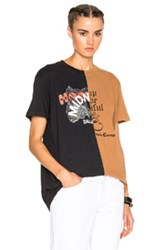 Off White Midnight Studios Reassemble Short Sleeve Tee In Black Brown Black Brown