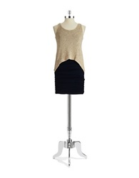 Casual Couture By Green Envelope Sleeveless Mock Top Dress Dark Navy