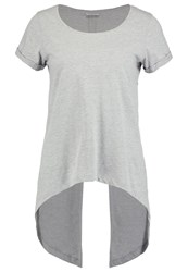 Noisy May Nmfred Print Tshirt Light Grey Melange Mottled Light Grey