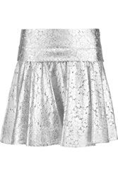 Dkny Circle Metallic Lace Mini Skirt