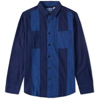 Blue Blue Japan Flannel Cutover Shirt Blue