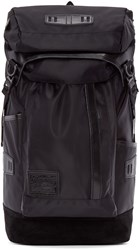 Master Piece Co Black Nylon And Suede Backpack