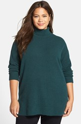 Plus Size Women's Halogen Turtleneck Sweater Green Ponderosa