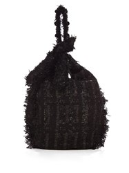 Simone Rocha Embellished Tweed Tote Black
