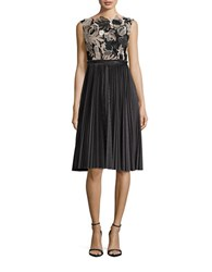 Tracy Reese Lace Bodice Sleeveless A Line Dress Grey Black