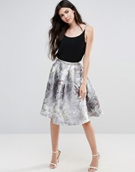 Little Mistress Jacquard A Line Skirt Silver