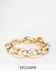 Designsix Chunky Bracelet Exclusive To Asos Gold