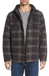 Prana Men's Hooded Field Jacket Dark Umber