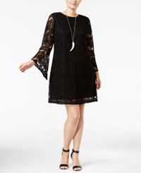 American Rag Trendy Plus Size Lace Shift Dress Only At Macy's Classic Black