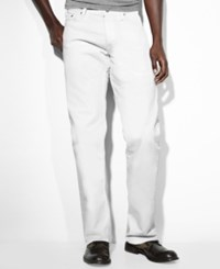 Levi's 569 Loose Straight Fit Jeans White