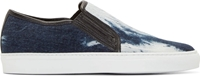 Balmain Denim Shibori Slip On Sneakers