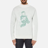 Garbstore Men's Postman Cotton Sweatshirt White