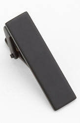 The Tie Bar Polished Metal Tie Bar Matte Black