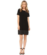 Calvin Klein T Shirt Dress W Grommets Black Women's Dress