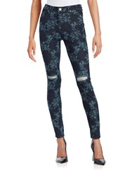 Tinsel Patterned Skinny Jeans