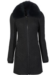Zac Posen 'Rose' Padded Coat Black