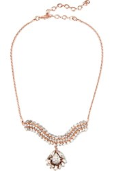 Erickson Beamon War Of Roses Rose Gold Plated Swarovski Crystal Necklace