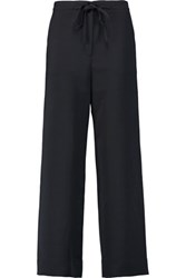 Tibi Twill Wide Leg Pants Black