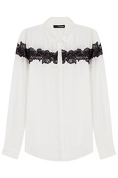 The Kooples Blouse With Lace White