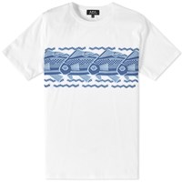 A.P.C. Fisher Print Tee White