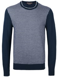 Michael Kors Diamond Patterned Jumper Blue