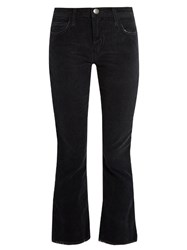 Current Elliott The Cord Mid Rise Kick Flare Corduroy Jeans Black