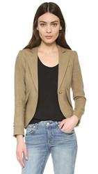 Smythe One Button Blazer Burlap