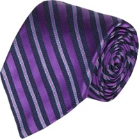 Barneys New York Mixed Stripe Jacquard Silk Neck Tie Purple