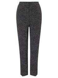 Phase Eight Alexa Spot Cropped Trousers Black Ivory