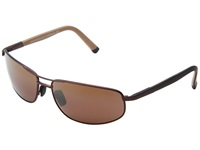 Maui Jim North Point Matte Chocolate Hcl Bronze Metal Frame Sport Sunglasses Brown