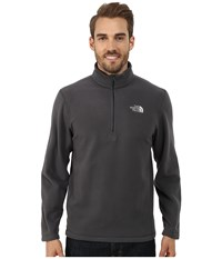 The North Face Tka 100 Glacier 1 4 Zip Asphalt Grey Men's Long Sleeve Pullover Gray