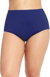 Lablanca Plus Size Women's La Blanca High Waist Bikini Bottoms Midnight