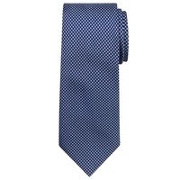 Chester By Chester Barrie Mini Cross Silk Tie Navy Silver