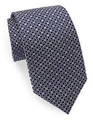 English Laundry Silk Diamond Embroidered Tie Navy
