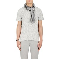 John Varvatos Men's Floral Gauze Scarf Grey
