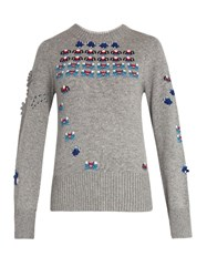 Barrie Star Games Cashmere Sweater Grey Multi