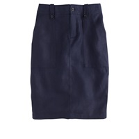 J.Crew Tall Linen Cargo Pencil Skirt Navy
