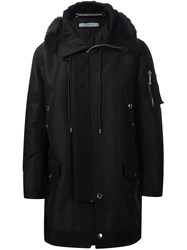 Givenchy Fur Trim Short Parka Black