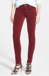 Petite Women's Kut From The Kloth 'Diana' Stretch Corduroy Skinny Pants Tibetan Red