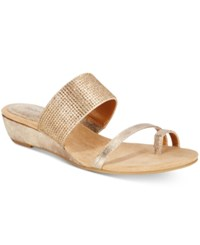 Styleandco. Style Co. Women's Heidee Embellished Wedge Sandals Only At Macy's Women's Shoes Gold